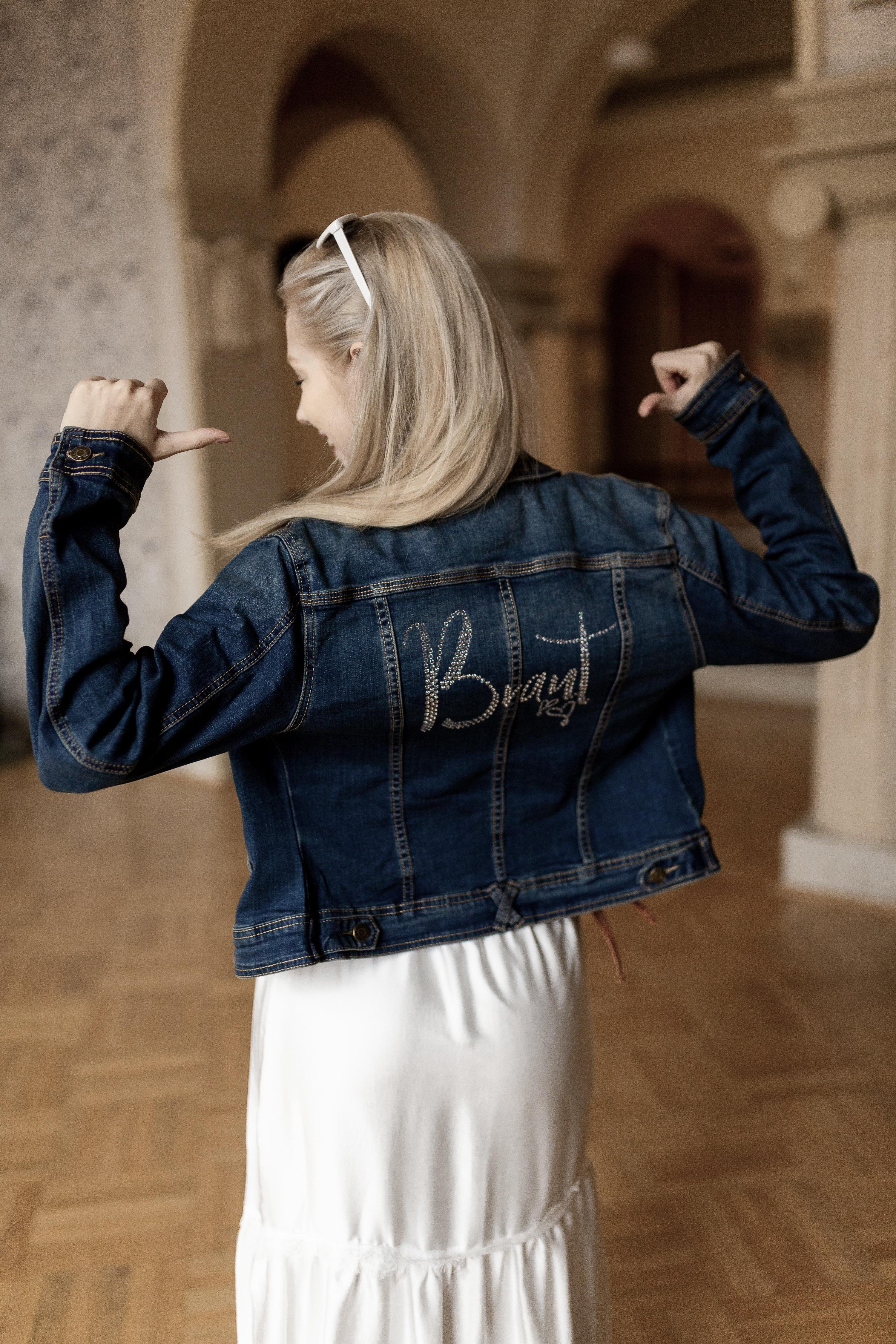 Brautkleid für jeans jacke Jeansjacke der