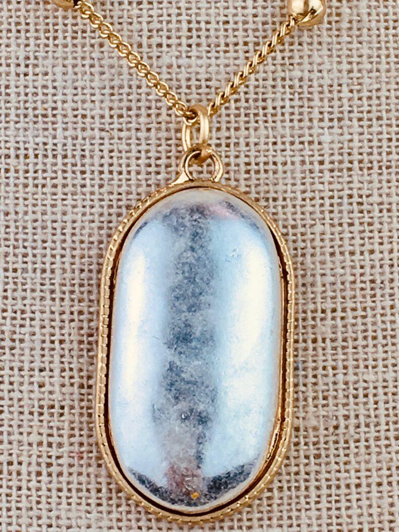 Vintage Halskette mit Amulett silber