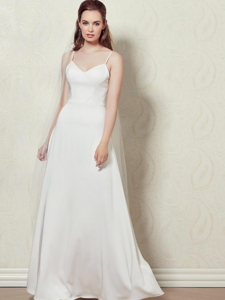 Basic Brautkleid Lilly lang