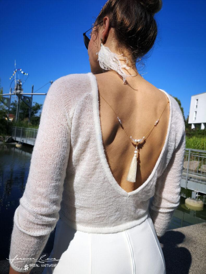 #be pure Brautpullover schlicht